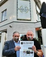 Oktober - De Gazet bij restaurant Barbouni te Nieuwpoort