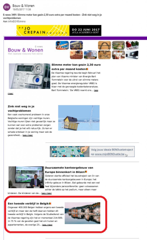 Een tweede verblijf in België - In de pers - 2HB