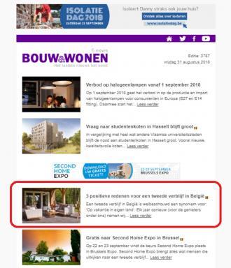 Positieve redenen voor een tweede verblijf in België - In de pers - 2HB