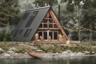 Cabin-in-a-box bouwpakket - Innovatief - 2HB