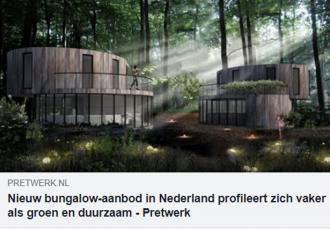 Groen en duurzaam bungalow aanbod in Nederland - In de pers - 2HB