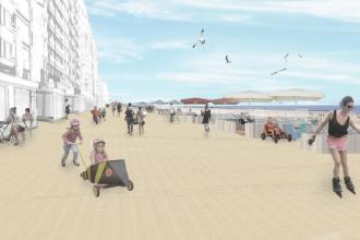 Simulatie nieuwe zeedijk Middelkerke - Kust - 2HB